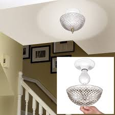 bathroom ceiling globes design ideas light: clip on light shade diamond cut acrylic dome lightbulb fixture   quot amazoncom