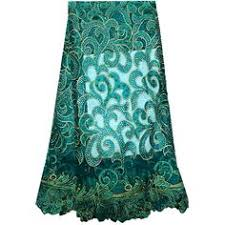 Teal Color high quality <b>african cord lace 2016</b> latest <b>african</b> guipure ...