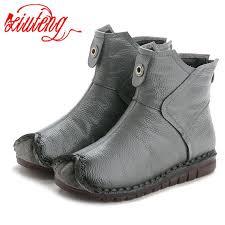 Xiuteng 2019 Winter <b>Genuine Leather Women</b> Ankle Boots ...