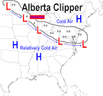 Images & Illustrations of Alberta clipper