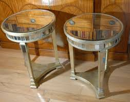 side tables pair round top art deco mirrored art deco mirrored furniture