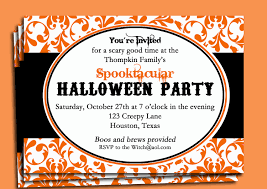 halloween party damask invitation printable frightfully 128270zoom