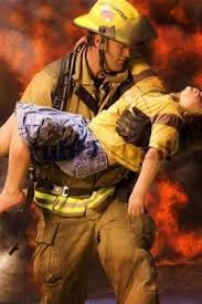 Image result for images of a fireman in a burning building