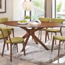 walnut cherry dining: walnut finish oval shaped dining table center frame with  legs and seats up to  guests also starburst pattern