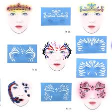 <b>OPHIR Reusable Soft</b> Face Paint Stencil Temporary Tattoo ...