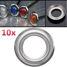 <b>Chrome Stainless Steel</b> Trim Bezel Steel For Small Round LED ...