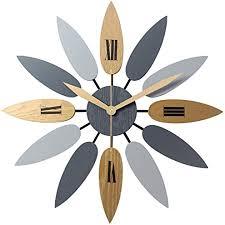 Vintage Nordic <b>Style</b> Wall Clock, <b>Creative Leaf Shape</b> Design Silent