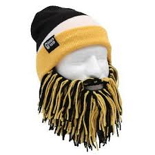 Pittsburgh <b>Penguins</b> Yellow Black <b>Knit</b> Football Beard <b>Ski</b> Face ...