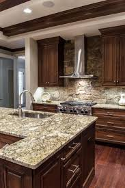 set cabinet full mini summer: custom wood cabinets and gray stone countertops are top of the line