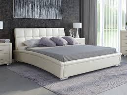 Купить <b>Кровать</b> Corso-1L (Экокожа Молочный перламутр ...