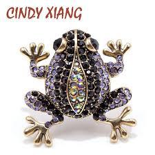 <b>CINDY XIANG</b> 3 <b>Colors</b> Choose Rhinestone Frog Brooches for ...