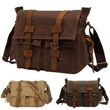 <b>Canvas Retro</b> Men's Messenger <b>Bags</b> for sale | eBay