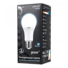 Светодиодная <b>лампа Gauss LED</b> Globe 12W 4100K E27 — купить ...