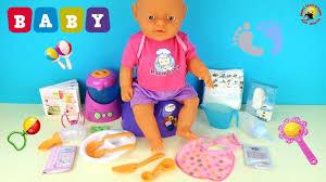 Играем пупсиком Беби Готовим для малыша, кормим, учимся ...
