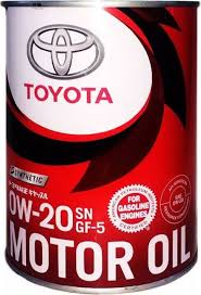<b>Масло моторное Toyota Motor Oil</b>, синтетическое, 0W-20, SN, 1 л ...