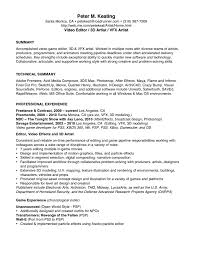 resume video game producer cover  seangarrette coresume video game producer