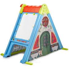 Детский <b>игровой домик Feber</b> 3 в 1 с мольбертом и лестницей ...