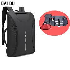 <b>BAIBU Men bag</b> 15.6 inch Laptop <b>Backpack</b> Multifunction USB Ch ...