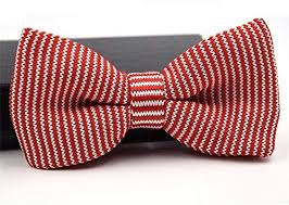 Interview <b>Bow Tie</b> Red and White <b>Men Knitting Bow Tie</b> Plain <b>Bow</b> ...