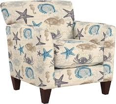 la z boy furniture with beach attitude starfish seashell fabric upholstered chairs beach themed furniture stores