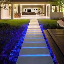 glamorous garden landscape with awesome garden step lights blue led lighting under the floating steps awesome modern landscape lighting design ideas bringing