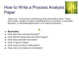 process essay free yourself from fear and attempt the impossible    what is a process analysis  when a writer lists the steps involved in how to