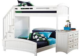 cottage colors white twinfull step loft with dresser bunk beds kids dresser