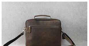 ROCKCOW <b>Crazy</b> Horse <b>Leather Briefcase</b> Messenger <b>Bag</b> Laptop ...