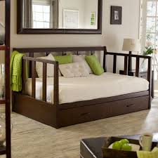 gallery of espresso polished mahogany wood trundle day bed using wrought iron pull out handle with wooden daybeds with trundle also wooden daybed with bedroom endearing rod iron