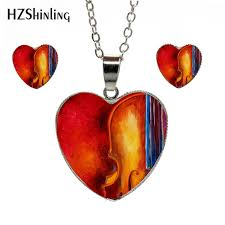 2019 <b>New Fashion Vintage</b> Painted Cello Mixed Heart Necklace