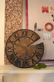 barn wood wall clock clocks kitchen rustic pottery barn clock via karapaslaydesigns
