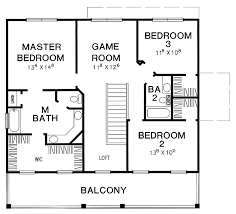 Plan W st Southern Narrow Lot House Plans Home Designs Simple    simple bedroom floor