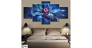 Canvas painting <b>5 Panel LOL League of Legends</b> Master Yi Game ...