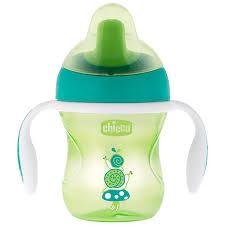 Чашка-<b>поильник Chicco Training Cup</b> зеленый с 6 месяцев ...