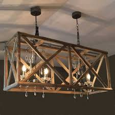 large wooden chandelier with metal and crystal amazing wooden chandelier
