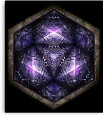"""Hex <b>Cube</b> 02 - DMT Sacred <b>Geometry</b>"" <b>Canvas</b> Print by ..."