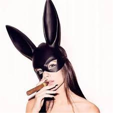 2019 Newest Hot <b>1Pc Halloween Laides Bunny</b> Mask Party Bar ...