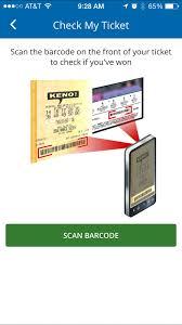 lottery mobile app info screenshot of lottery mobile app barcode scanner