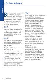 Toyota Financial Statement 2012 Toyota Tacoma Warranty Amp Maintenance Information
