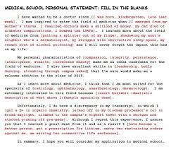 Personal Statement Mad Libs   Go  Treat  Heal Thanks