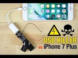 USB Killer vs iPhone 7 Plus - Instant Death? - YouTube
