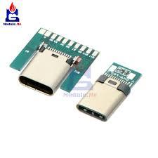 <b>USB 3.1 Type</b> C Connector 24 Pins Male/<b>Female</b> Socket Receptacle ...