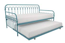 Amazon.com: Novogratz Bright Pop Metal Bed, Adjustable Height for ...