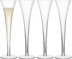 <b>Набор из 4 бокалов-флейт</b> для шампанского LSA International ...