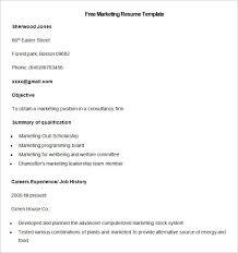 marketing resume template –    free samples  examples  format    sample free marketing resume template  free download