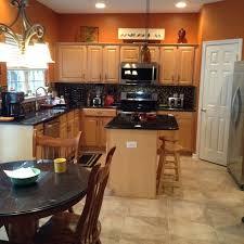 ideas burnt orange: burnt orange kitchen with new tile flooring