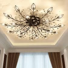 Modern Flush Mount Home Gold Black <b>LED K9</b> Crystal Ceiling ...