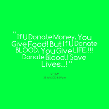 Quotes from Vijay Sak: If U Donate Money, You Give Food! But If U ... via Relatably.com