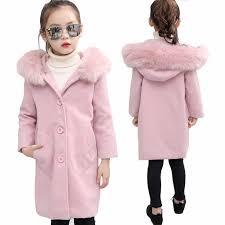 2018 <b>Autumn</b> and <b>Winter Girls Woolen</b> Coat Big Virgin <b>Wool</b> Coat ...