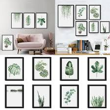 1 Pc Fresh <b>Watercolor Green Plant</b> Painting Living Room Bedroom ...